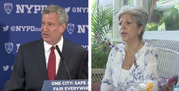 NYC Mayor Bill de Blasio Runs Away As Woman Asks Why He's Letting The NYPD Down