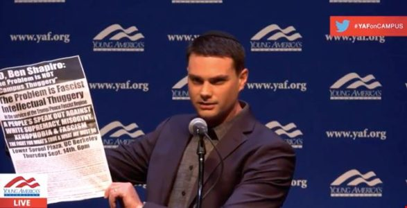 Ben Shapiro Take Antifa To The Woodshed At Berkeley: You're A Bunch Of 'Pathetic, Stupid…Jackasses'