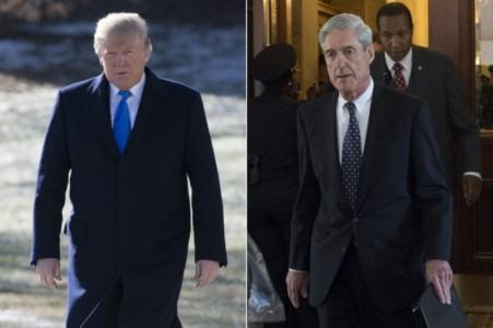 Trump attacks fairness of Mueller probe.