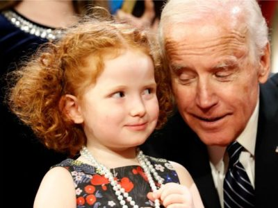 The Adventures of Creepy Joe Biden: Serial Young Girl-Toucher.