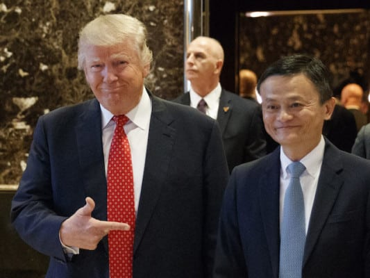 Donald Trump Discussing One Million New Jobs with Amazon Competitor Jack Ma