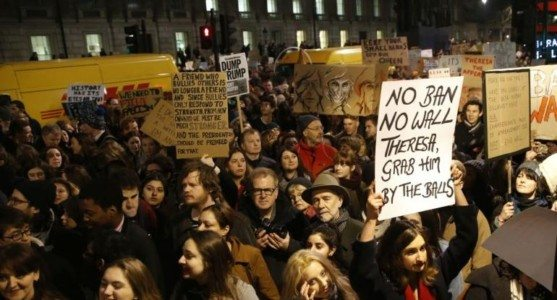 Leftists March in Britain, Want PM May to Cancel Trump Visit