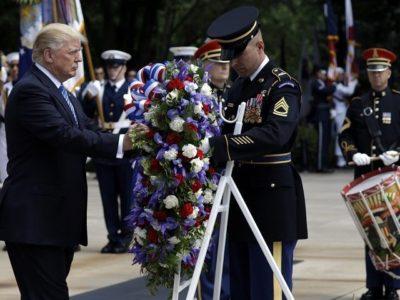 Memorial Day: Donald Trump Honors Fallen Soldiers at Arlington National Cemetery.