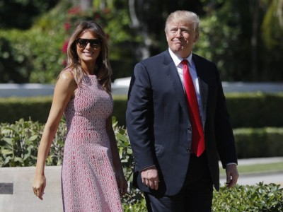 Donald and Melania Trump Go to Church for Easter.