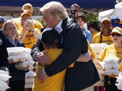 North Carolina Boy Asks Donald Trump for a Hug After Hurricane Florence.