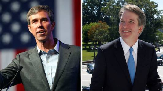 Media scrutinizes Kavanaugh but gives Ted Cruz challenger a pass.