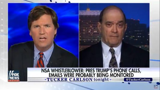 Shocking: NSA whistleblower tells Tucker Carlson Trump, Supreme Court, Congress likely spied on.
