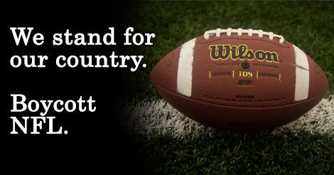 BOYCOTT NFL SUNDAY, NOVEMBER 12TH – VETERANS DAY