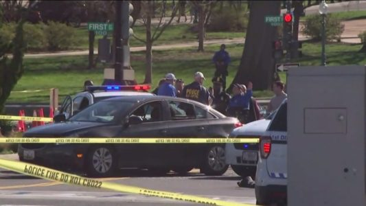 Shots fired near Capitol Hill after woman allegedly tried to run over Capitol Police officers