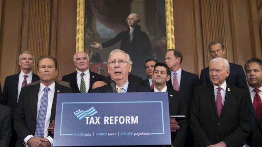 Negotiators strike deal in principle on tax bill