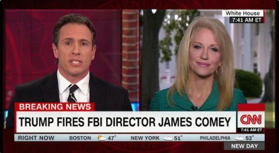 Video: Kellyanne Conway Battles CNN's Chris Cuomo in Epic 19 Minute Debate. on Comey Firing