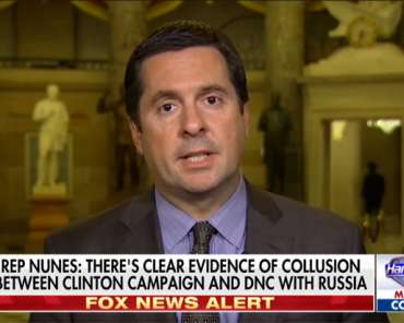 Nunes: 'Democratic Party and Hillary Clinton Campaign Colluded with the Russians'