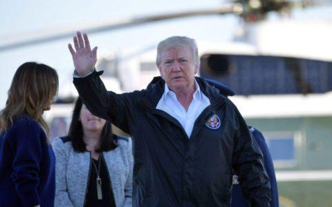 Trump surveys hurricane-ravaged Puerto Rico, meets San Juan mayor after feud