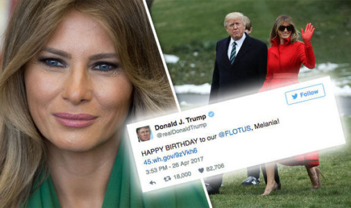 Happy Birthday to Our Beautiful First Lady Melania Trump.
