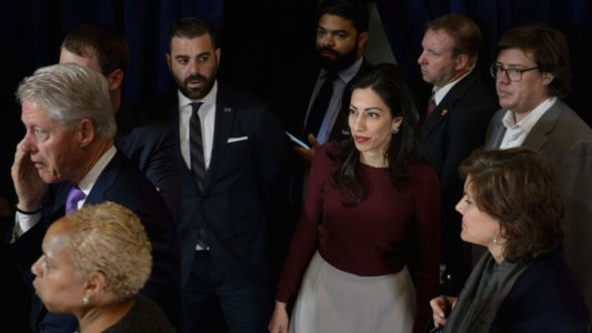 Huma Abedin files for divorce after Anthony Weiner pleads guilty in sexting case.
