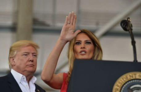 Melania Trump Just Opened Her Husband's Rally With The Lord's Prayer