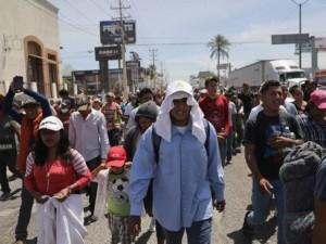 Caravan Arrives!  Migrants Waiting to Cross Mexico-California Border.