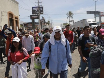 Caravan Arrives!  Migrants Waiting to Cross Mexico-California Border.
