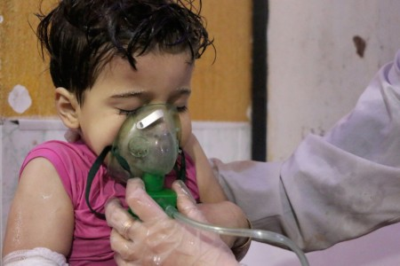 "Trump threatens a ""big price"" after reports of deadly chemical attack in Syria."