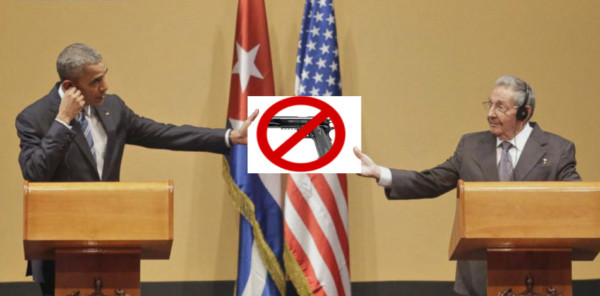 Unarmed citizens means submission: the Cuban experience.