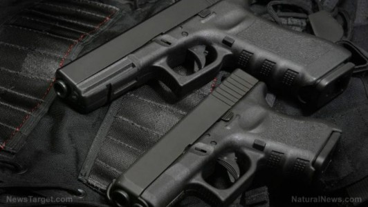Police seize first firearms under Florida's new gun-control laws.