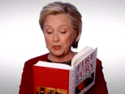 Grammys: Hillary Clinton Makes Cameo as Stars Read Excerpts from Anti-Trump 'Fire and Fury'