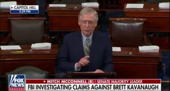 """BREAKING: McConnell Delivers Remarks on Kavanaugh From Senate Floor – """"We'll Be Voting This Week"""" (VIDEO)"""