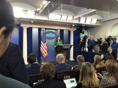 Sarah Sanders Begins WH Briefing By Reminding #FakeNews Reporters Of POTUS Trump's Many Accomplishments.