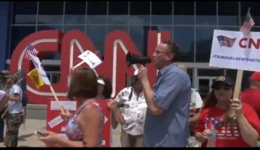"Trump Supporters Protest CNN Headquarters: ""No More Fake News!"" (VIDEO)"