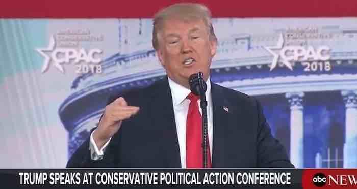 Watch President Trump's entire CPAC speech here
