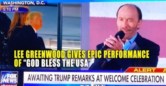 Watch: Lee Greenwood Performs 'God Bless the USA' at Trump Inauguration Concert