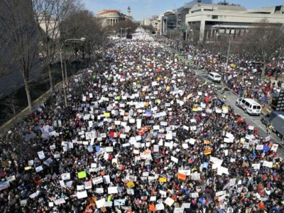March for Our Lives D.C. Unfolds as Anti-Trump, Anti-Gun, Get-Out-the-Liberal-Vote Rally.