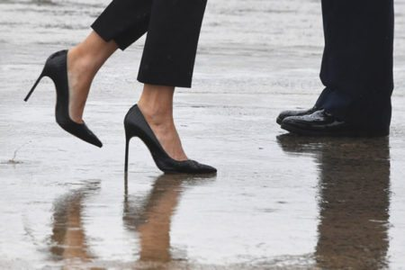 Melania Trump's footwear 'triggers' Trump-haters