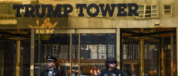 Fire Breaks Out On Trump Tower In NYC.