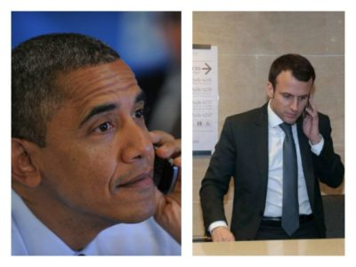 Obama 'Gently Waded' Back into Politics: Spoke on Phone with Left-Leaning Presidential Candidate Macron.