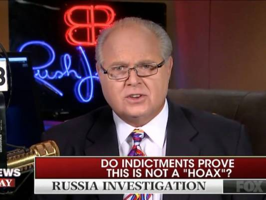 Limbaugh: Dems Using Russia Meddling 'to Eventually Get Rid of Elections'