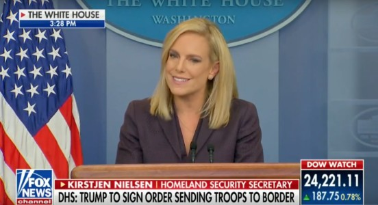 Trump signs proclamation sending National Guard to Mexico border immediately.