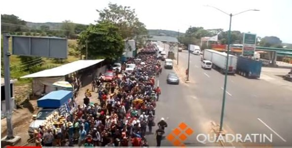 Caravan of Illegal Migrants Marching to US Border Looks More Like Army of Young Male Invaders (VIDEO)