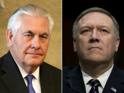 On Twitter, Donald Trump Announces Mike Pompeo as Secretary of State; Rex Tillerson Out.
