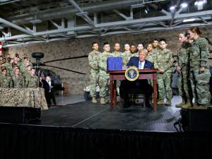 Citing General Patton, Donald Trump Signs Massive Military Spending Bill.