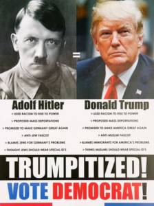 Dallas Democrat Sends Out Mailer Comparing President Trump to Adolf Hitler.