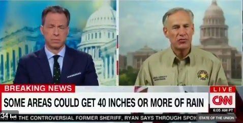 Texas Governor Abbott Repeatedly Praises President Trump Over His Hurricane Response (VIDEO)