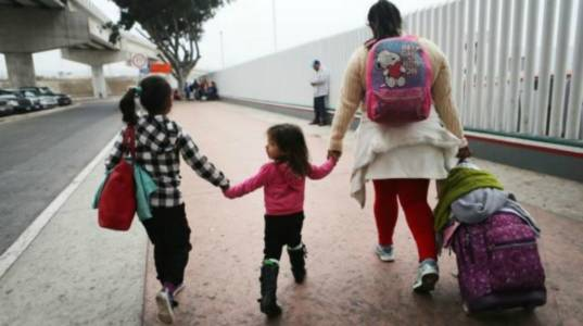 Crying children, cartoon monster and liberal fascism