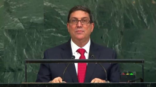 Bruno Rodriguez speaks to UN in 2017