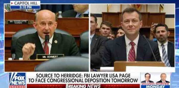 VIDEO: Louis Gohmert asks Strzok how many times he looked into his wife's eyes and lied to her