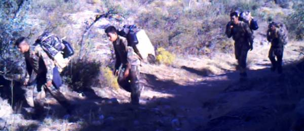 25 Straight Minutes Of Illegal Aliens Crossing Into US Through Arizona Ranch.