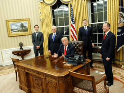 Trump Restores Churchill Bust to Oval Office in First Day as President