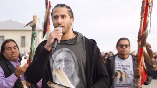 WATCH: Kaepernick Shows Up At 'Unthanksgiving Day' Event, Calls For 'Resistance'