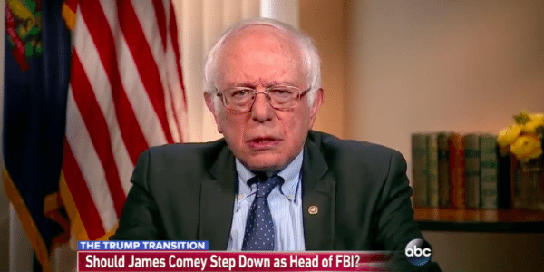 Bernie Sanders in Jan. 2017: Comey Should be Fired… Bernie Sanders in May 2017: Trump's Firing of Comey a Threat to Rule of Law.