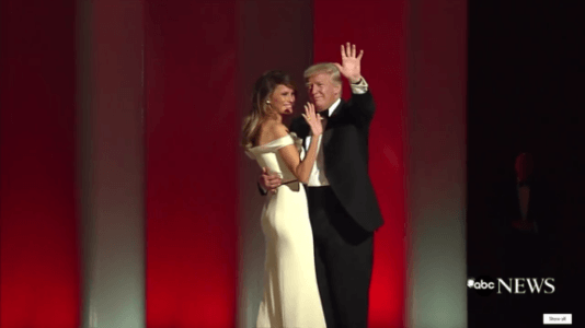 "President Trump And First Lady Melania Trump Dance To Frank Sinatra's ""My Way"" (2 Videos)"